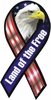 Land of the Free Eagle Ribbon Magnet