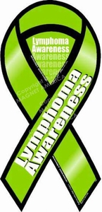 "Lymphoma Awareness 2 in 1Ribbon Magnet 4"" x 8"""