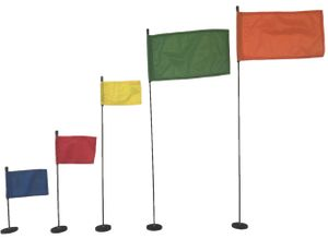Magnetic Base Flag Holder - FLEXIBLE Pole - Rubber Coating - Hold Force 44 Ibs.