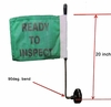 "Magnetic Mount 20""  90 Degree Pole (w or w/o flag)"