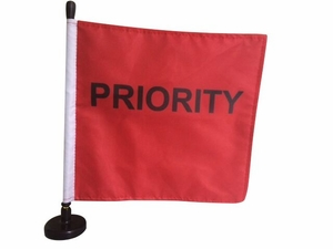 "Magnetic ""Priority"" Flag 9"" x 9"""