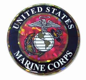 Marine 3D Reflective Seal Decal