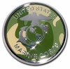 Marine CAMO Seal Chrome Automobile Emblem