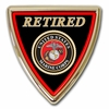 Marine Corps Retired Chrome Emblem