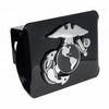 Marine (Insignia) ALL METAL Black Hitch Cover