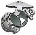 Marine Insignia Chrome Automobile Emblem