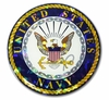 Navy 3D Reflective Seal