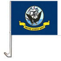 Navy Car Flag