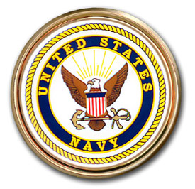 Navy Seal Chrome Automobile Emblem