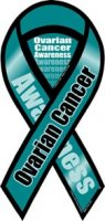 Ovarian Cancer Awareness 2 in 1 Ribbon Magnet