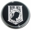 POW-MIA Chrome Automobile Emblem