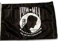 "POW-MIA Flag Replacement 11"" x 15.5"""