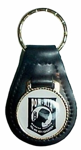 POW-MIA Leather Key Tag