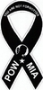"POW-MIA Mini Ribbon Magnet 2"" x 4"""
