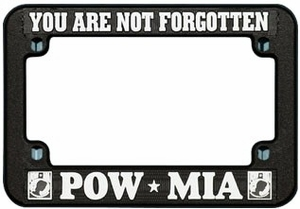 POW-MIA Motorcycle License Plate Frame - Plastic