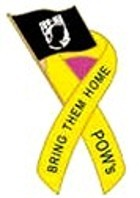 POW-MIA Ribbon Flag  Pin