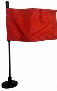 Red Assembly Line Magnetic Base Flag