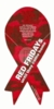 """Red Friday Ribbon Magnet 4""""X8"""""""