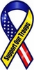 "Red White Blue Support Our Troops Large Ribbon Magnet 4"" x 8"""