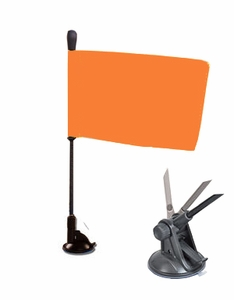 Safety Flag with Suction Mount and Flex Pole