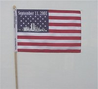 Sept. 11, 2001 Stick Flag 8X12