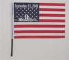 Sept. 11, Polyester Black Plastic Stick Flag
