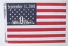 "September 11, 2001 Commemorative Mini Flag 10"" x 17"""