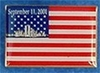 September 11th Commemorative  Flag Pin 1 1/4""