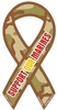 """Support Our Marines Camouflage Mini Static Decal 2"""" x 4"""""""