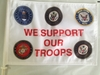 Support Our Troops Car Flag