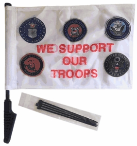 Support Our Troops Cycle Flag