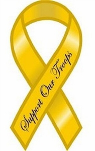 "Support Our Troops Large Ribbon Magnet 4"" x 8"""