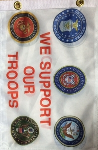 "Support Our Troops Mini Flag 11"" x 17"""