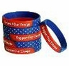 Support Our Troops Red White and Blue Bracelets