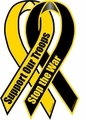 Support Our Troops Stop the War Ribbon Magnet