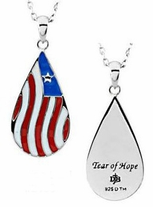 Tear of Hope Pendant in Sterling Silver with Chain