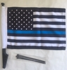 Thin Blue Line Motorcycle Flag