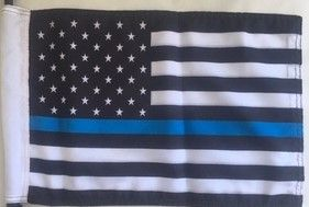 """Thin Blue Line Replacement Flag 11"""" x 15.5"""" OR 8"""" x 13"""" size"""