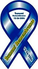 Tsunami Remembrance Ribbon Magnet