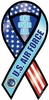 "U.S. Air Force Ribbon Magnet- One Over All 4"" x8"""
