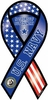 "U.S. Navy Ribbon Magnet- Not For Self But Country 4""x8"""