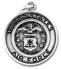 US Air Force Emblem Sterling Silver Charm