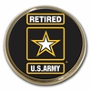 US Army Retired Chrome Emblem