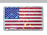 USA 3D Reflective Flag Decal