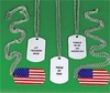 USA Flag Dog Tag