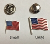 USA Flag Lapel Pin Sterling Silver (Small)