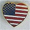 USA Heart Flag Pin