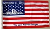 "World Trade Center Car Flag Replacement 8"" x 13"""
