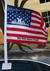 "World Trade Center Commemorative Car Flag 11"" x 15.5"""