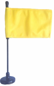 Yellow Assembly Line Magnetic Base Flag